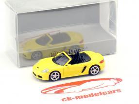 Porsche 718 Boxster anno di costruzione 2016 giallo 1:87 Minichamps