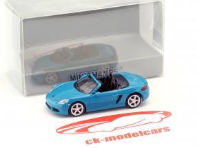 Porsche 718 Boxster year 2016 blue 1:87 Minichamps