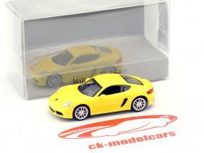 Porsche 718 Cayman year 2016 yellow 1:87 Minichamps