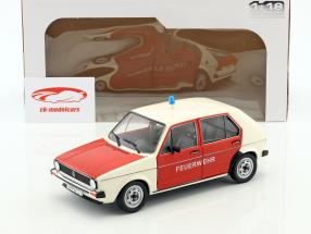 Volkswagen VW Golf fire department red / beige 1:18 Solido