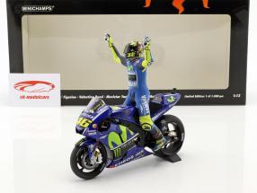 Valentino Rossi Yamaha YZR-M1 #46 vincitore MotoGP Assen 2017 con cifra 1:12 Minichamps