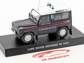 Land Rover Defender 90 militaire politique année de construction 1995 bleu foncé 1:43 Altaya