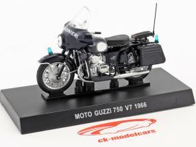Moto Guzzi 750 V7 anno di costruzione 1966 blu scuro 1:24 Altaya