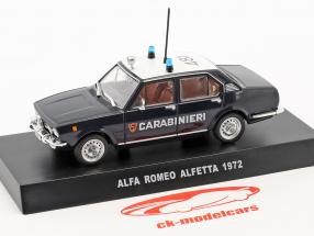 Alfa Romeo Alfetta year 1972 dark blue / white 1:43 Altaya