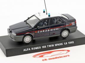 Alfa Romeo 155 Twin Spark 1.8 year 1992 dark blue 1:43 Altaya