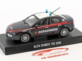 Alfa Romeo 159 Carabinieri anno di costruzione 2006 blu scuro 1:43 Altaya