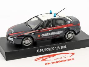 Alfa Romeo 159 Carabinieri year 2006 dark blue 1:43 Altaya