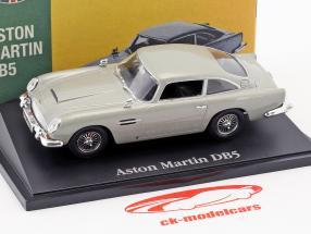 Aston Martin DB5 silver gray metallic 1:43 Atlas