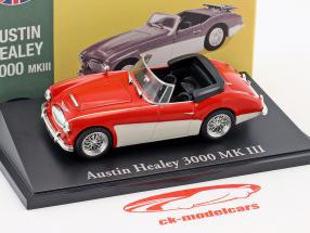 Austin Healey 3000 MK III rot / weiß 1:43 Atlas