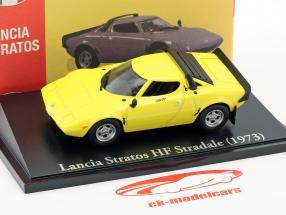 Lancia Stratos HF Stradale Baujahr 1973 gelb 1:43 Atlas