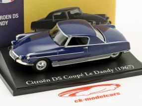 Citroen DS coupe Le Dandy year 1967 blue 1:43 Atlas
