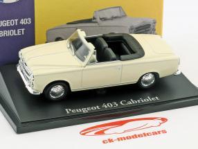Peugeot 403 Cabriolet creme weiß 1:43 Atlas