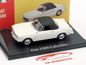 Fiat 1500 Convertible white 1:43 Atlas