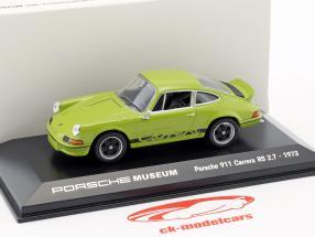 Porsche 911 Carrera RS 2.7 Bouwjaar 1973 jade groen / zwart 1:43 Welly