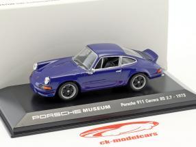 Porsche 911 Carrera RS 2.7 anno di costruzione 1973 mare blu 1:43 Welly