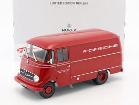 Mercedes-Benz L319 Porsche racing tjeneste år 1955 rød 1:18 Norev