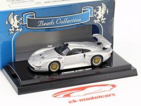 Porsche 911 GT1 année de construction 1996 argent métallique 1:64 Kyosho