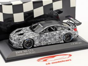 BMW M6 GT3 Presentation Car 24h Spa 2015 blanc / gris 1:43 Minichamps