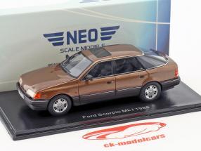 Ford Scorpio Ghia Mk1 Baujahr 1986 braun metallic 1:43 Neo