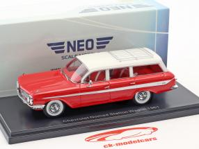 Chevrolet Nomad Station Wagon Baujahr 1961 rot / weiß 1:43 Neo