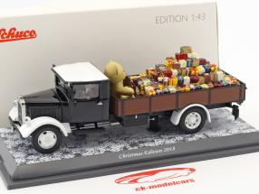 Mercedes-Benz Lo 2750 Christmas Edition 2018 black / brown / white 1:43 Schuco