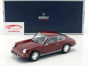 Porsche 911 T anno di costruzione 1969 scuro rosso 1:18 Norev