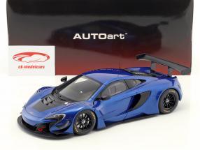 McLaren 650S GT3 Bouwjaar 2017 blauw / zwart 1:18 AUTOart