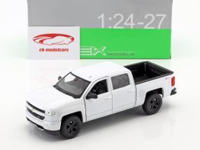 Chevrolet Silverado Opførselsår 2017 hvid 1:24 Welly