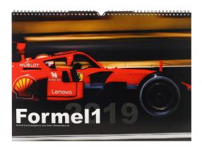formula 1 2019 gloss monthly wall calendar 42 x 29,7 cm from Jerry Andre