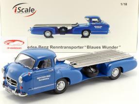 "Mercedes-Benz Renntransporter ""la bleu miracle"" année 1955 bleu 1:18 iScale"