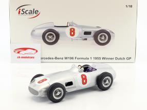 J.-M. Fangio Mercedes-Benz W196 #8 campeón del mundo fórmula 1 1955 1:18 iScale