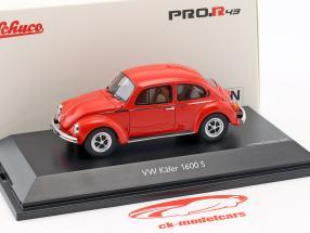 Volkswagen VW coléoptère 1600-S Super Bug rouge 1:43 Schuco