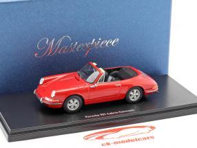 Porsche 901 Cabriolet Karmann red 1:43 AutoCult