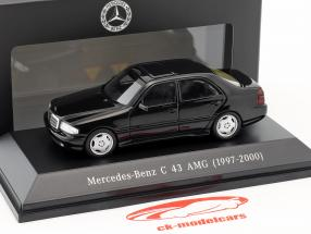Mercedes-Benz C43 AMG Baujahr 1997-2000 schwarz 1:43 Spark