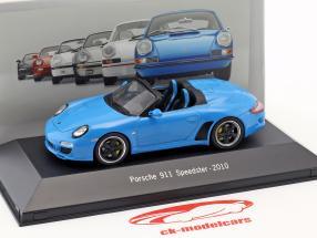 Porsche 911 (997) Speedster Opførselsår 2010 blå 1:43 Atlas
