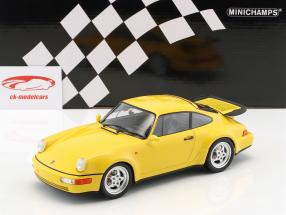 Porsche 911 (964) Turbo ano de construção 1990 amarelo 1:18 Minichamps