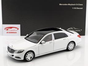 Mercedes-Benz Maybach S-Class año de construcción 2016 diamante blanco 1:18 Almost Real