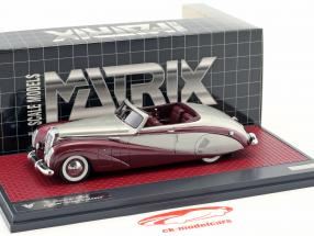 Daimler DE36 Hooper Green Goddess argent / pourpre métallique 1:43 Matrix
