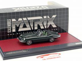 Jaguar E-Type SII Roadster anno di costruzione 1970 verde scuro metallico 1:43 Matrix