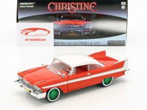 Plymouth Fury Bouwjaar 1958 film Christine (1983) rood / wit / zilver / groen 1:24 Greenlight