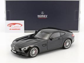 Mercedes-Benz AMG GT S Bouwjaar 2018 zwart metalen 1:18 Norev