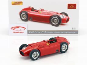 Juan Manuel Fangio Ferrari D50 #1 vencedor britânico GP campeão do mundo fórmula 1 1956 1:18 CMC