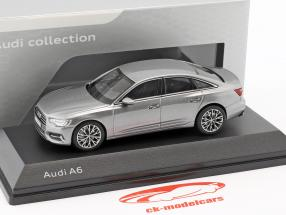Audi A6 C8 berline année de construction 2018 taifun gris 1:43 iScale