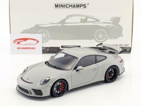 Porsche 911 (991 II) GT3 año de construcción 2017 la tiza de color gris 1:18 Minichamps