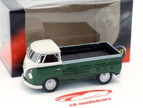 Volkswagen VW T1 Pick Up Baujahr 1960 dunkelgrün / weiß 1:43 Cararama
