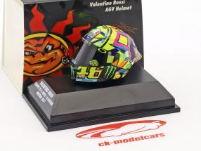 Valentino Rossi Moto GP 2017 tribute to A. Nieto, N. Hayden AGV helmet 1:8 Minichamps