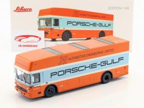 Mercedes-Benz O 317 Porsche Gulf Renntransporter Baujahr 1968 1:43 Schuco