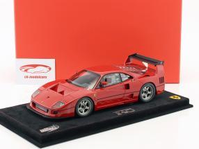 Ferrari F40 LM tryk udgave 1989 rød med udstillingsvindue 1:18 BBR