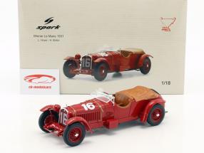 Alfa Romeo 8C 2300 LM #16 ganador 24h LeMans 1931 Howe, Birkin 1:18 Spark