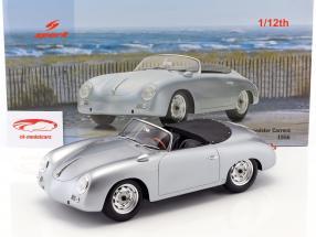 Porsche 356 Carrera Speedster ano de construção 1956 prata 1:12 Spark
